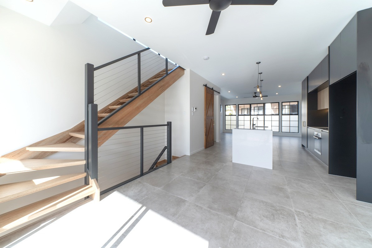 Open tread stairs create sense of more space