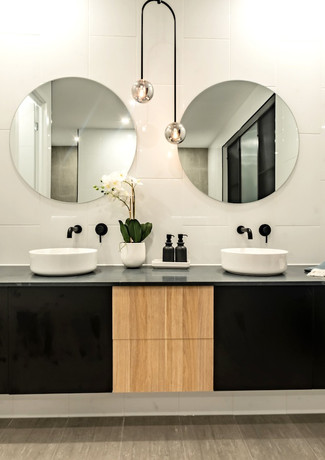 contemporary double vanity bathroom basins