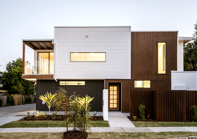 Stunning facade of this contemporary fourplex