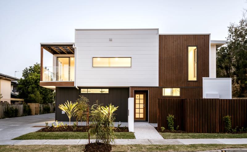 Stunning facade of this contemporary fourplex