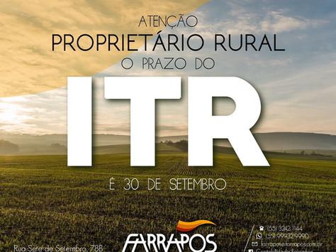 Proprietário Rural O Prazo do DITR é 30 de Setembro