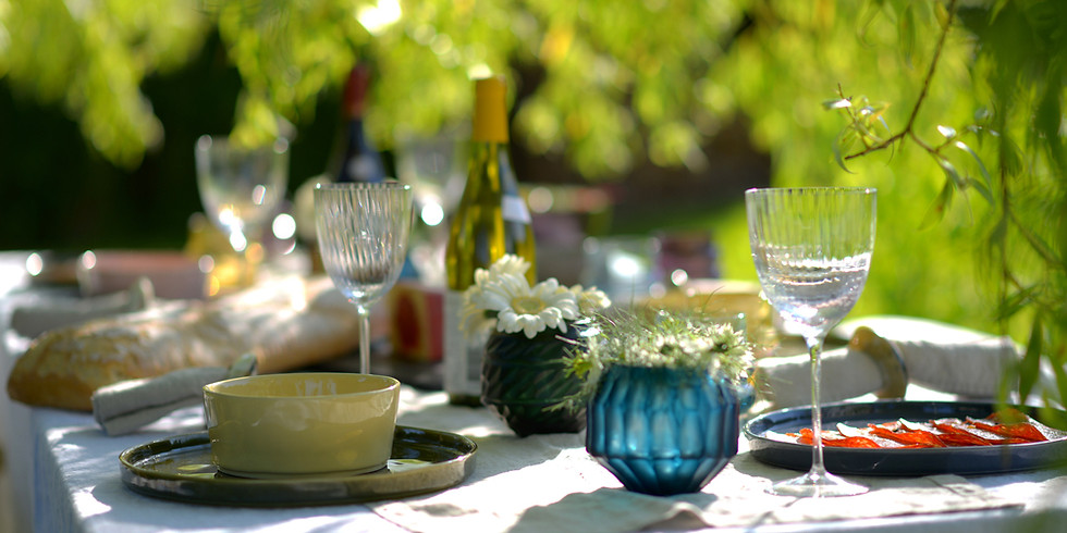 Sit with us:  Dinner in the Woods
