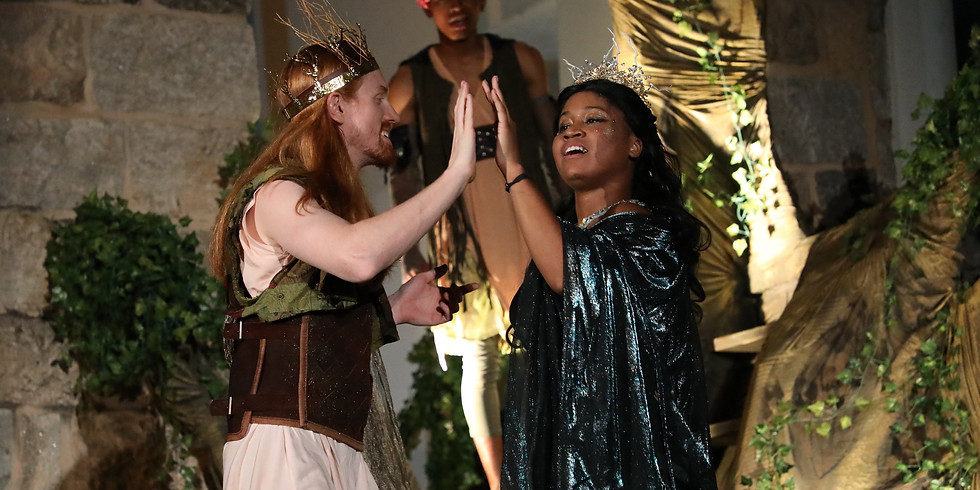 """An open-air production of """"A Midsummer Night's Dream"""" by Chesapeake Shakespeare Company"""