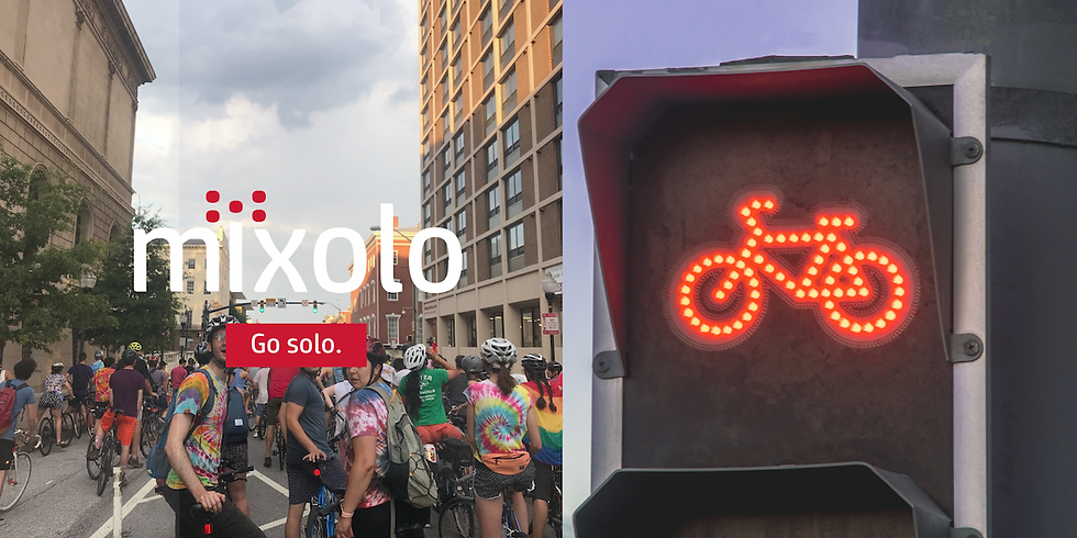 Mixolo is riding with Baltimore Bike Party!