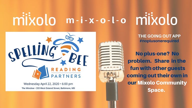 POSTPONED: Adults-only Spelling Bee Benefiting Reading Partners Baltimore