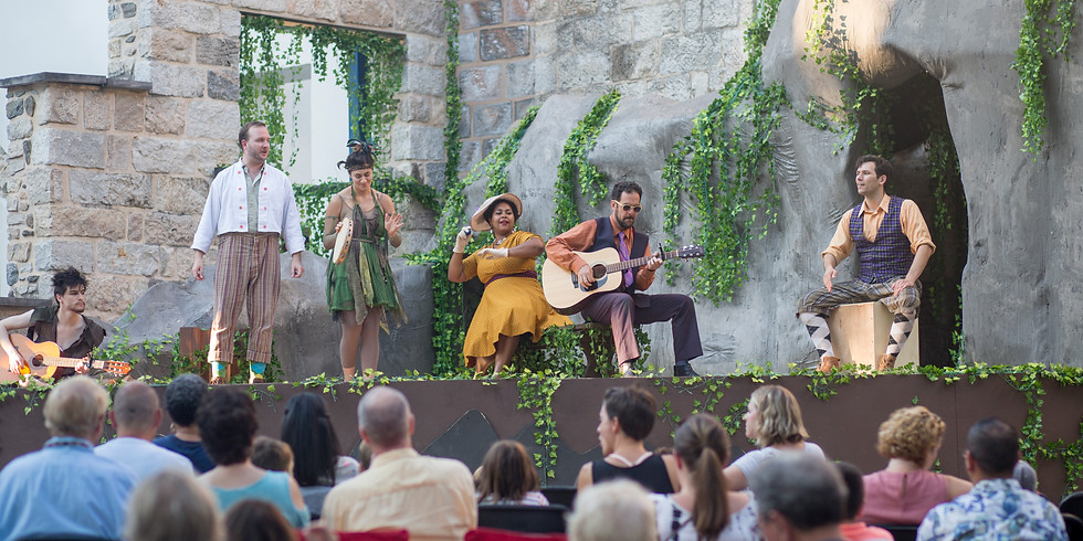 An open-air production of Love's Labour's Lost
