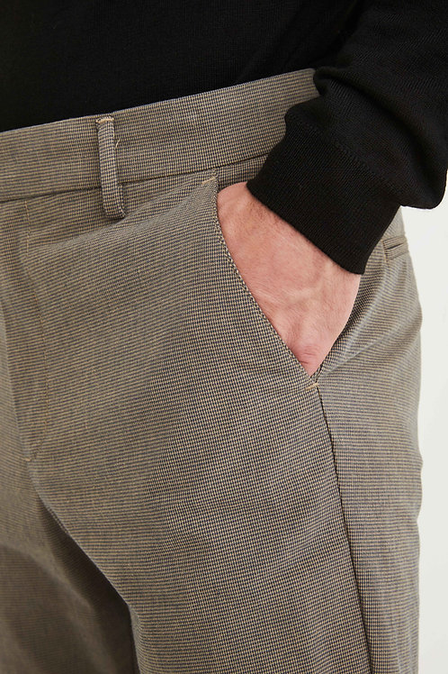 Ask mini-checked trousers