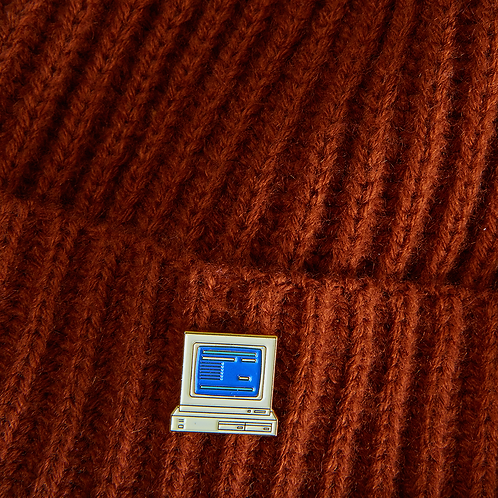 Retro computer pin