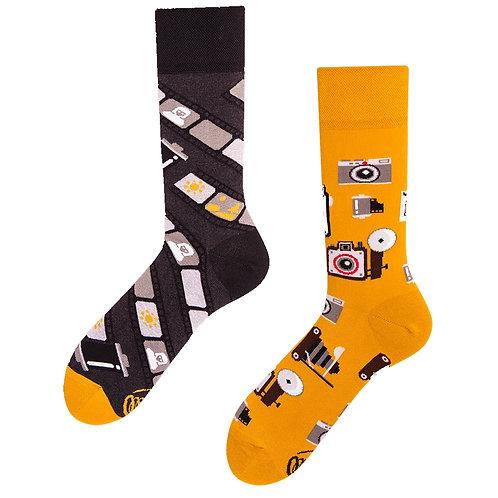 Retro camera sokken