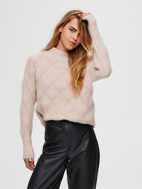Diamand-patroon sweater