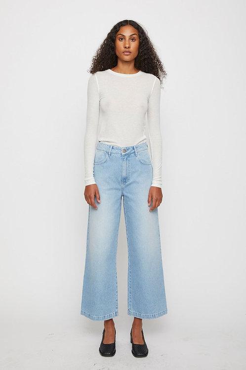 Wijde jeans met hoge taille