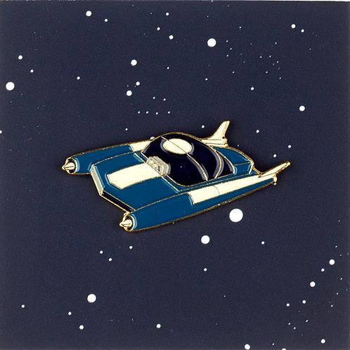 Blue space car pin