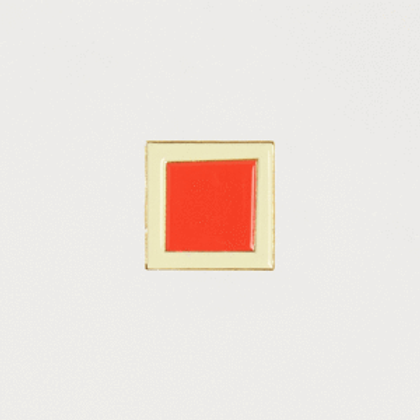 Red square pin