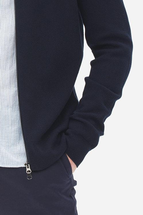 Knit bomber cardigan