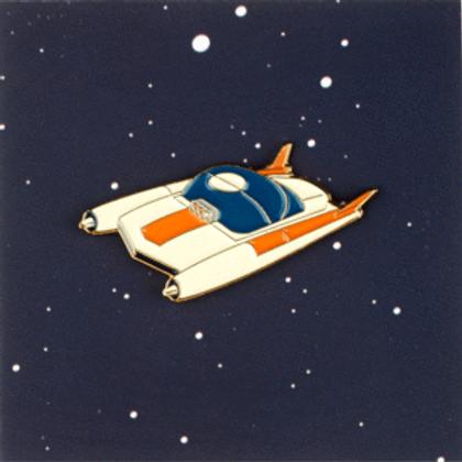 White space car pin