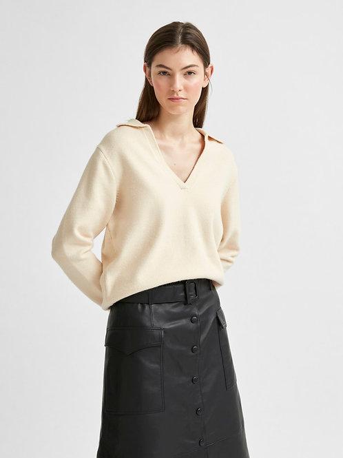 Gebreide polo sweater