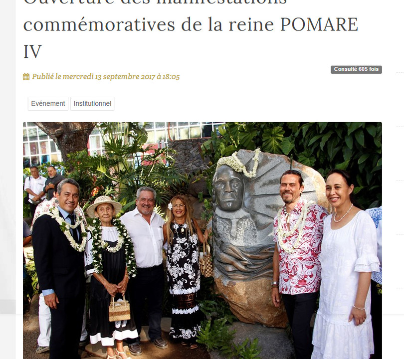 Assemblée Territoriale de la Polynésie Française - innauguration