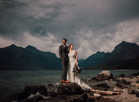 Intimate Wedding at Glacier Park