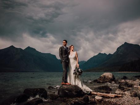 Intimate Wedding at Glacier Park
