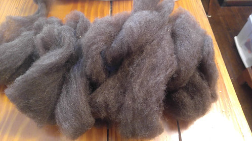 Black finn roving with lots of brown tips