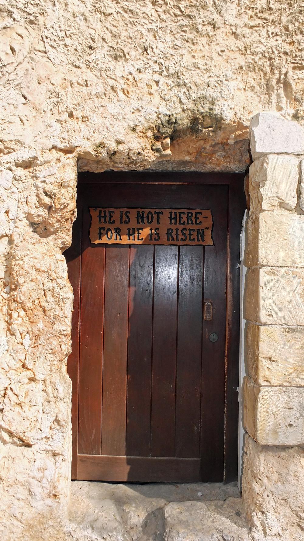 Tür zum Gartengrab in Jerusalem