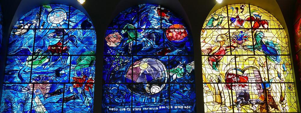 Chagall Fenster Ruven, Simon und Levi