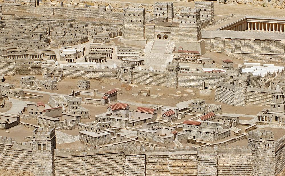 Antonia Festung, Stadtmauern, Steinbruch und Golgotha