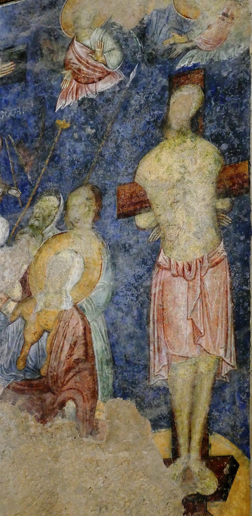 Abu Ghosh Fresken: Kreuzigung Jesus