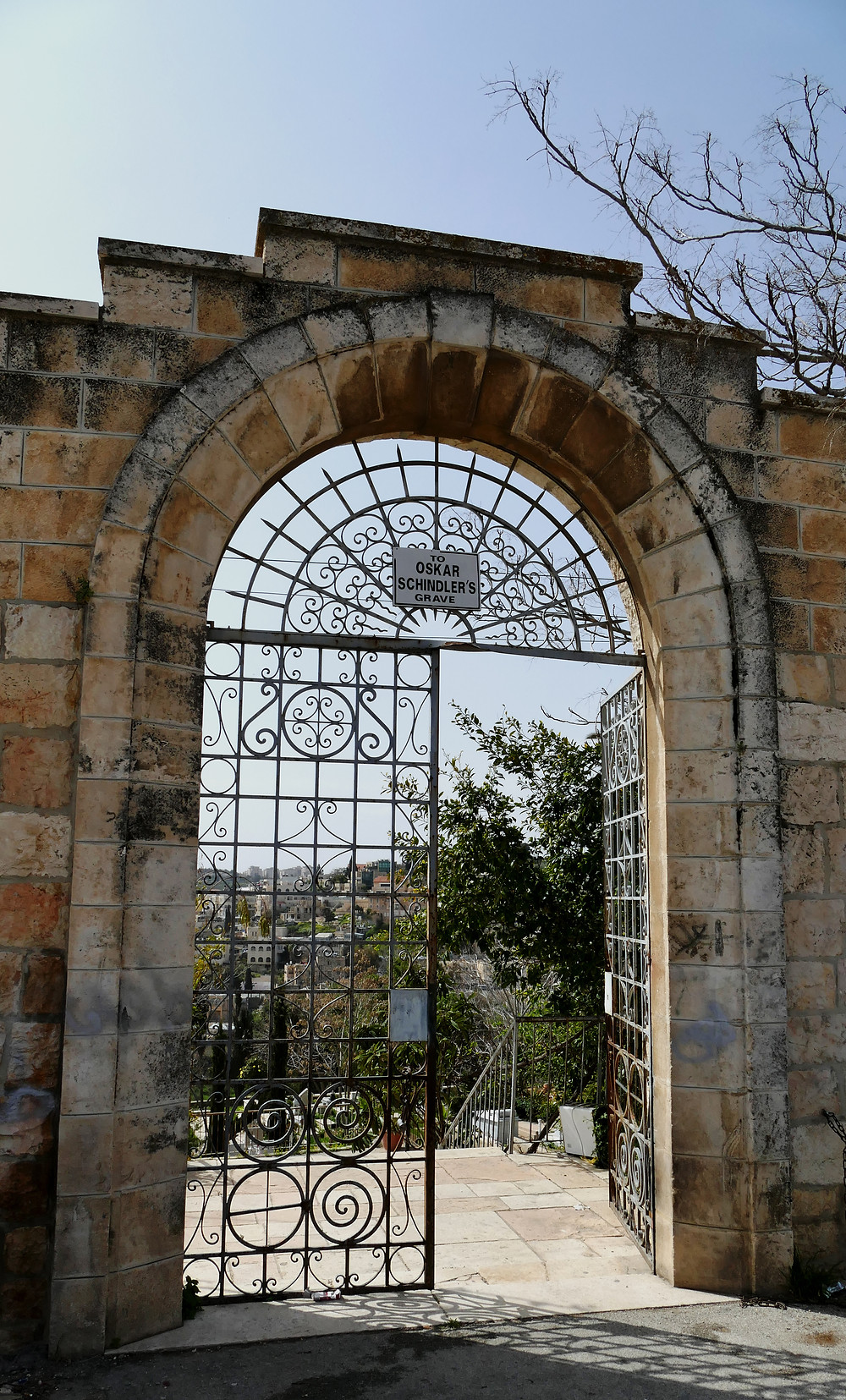 Katholischer Friedhof mit Oskar Schindler Grab in Jerusalem