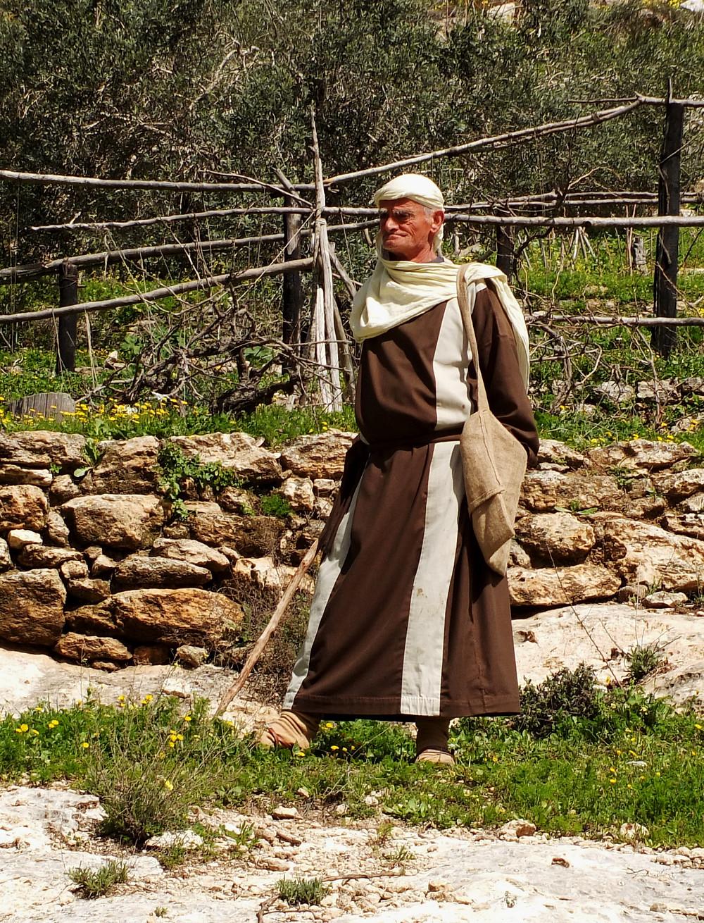 Der Schäfer in Nazareth Village