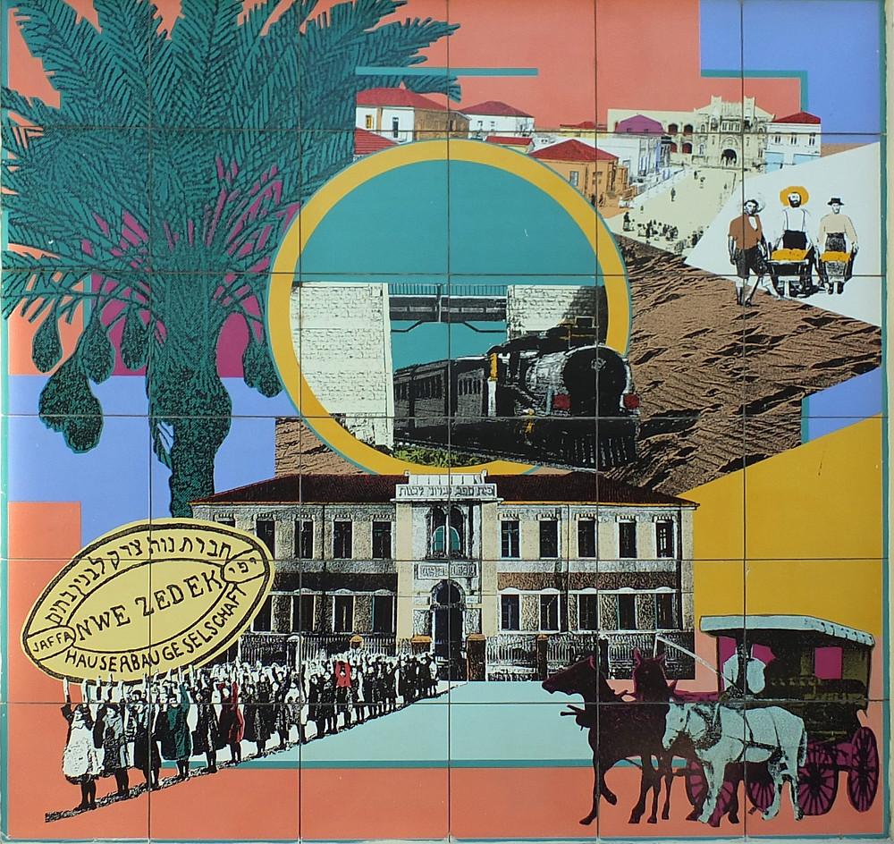 Der Aufbau von Neve Tzedek, Tel Aviv www.israel-reiseleiter.com