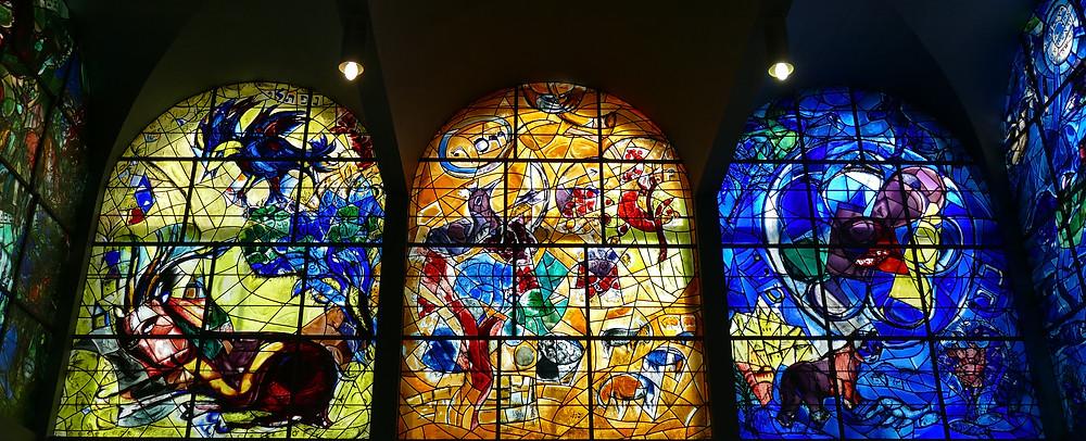 Chagall Fenster Naftali, Josef und Benjamin