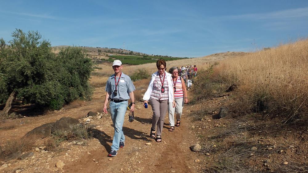 Wanderweg vom Berg der Seligpreisungen nach Tabgha