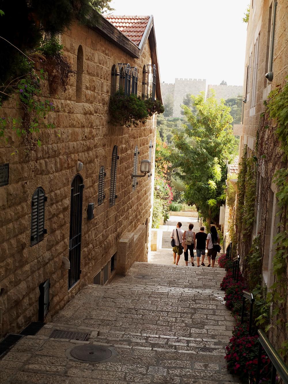 Gasse in Yemin Moshe
