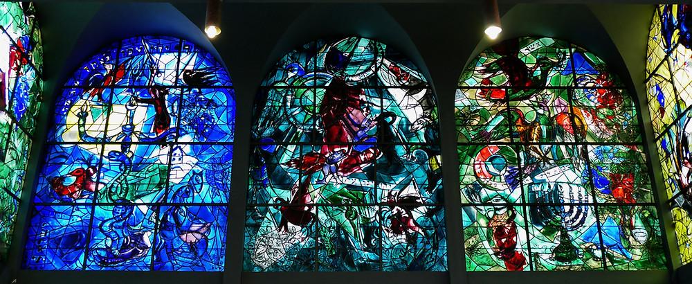Chagall Fenster Dan, Gad und Ascher