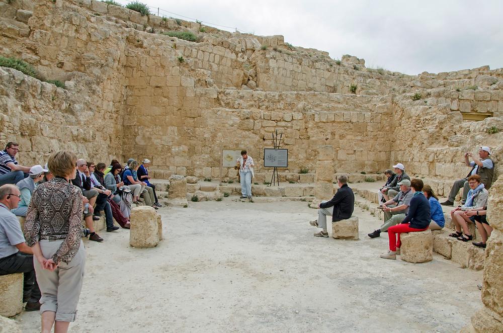 Wohnzimmer des König Herodes und die Synagoge der Reblelen