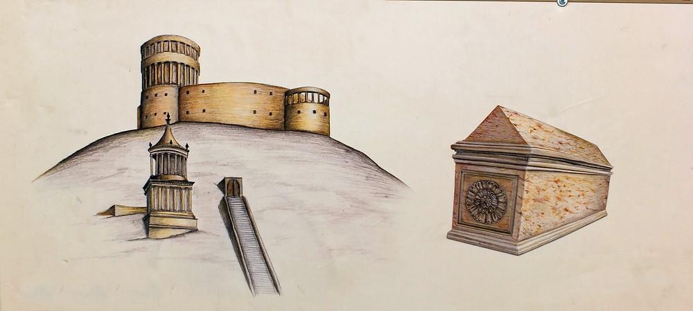 Herodion - schematische Darstellung