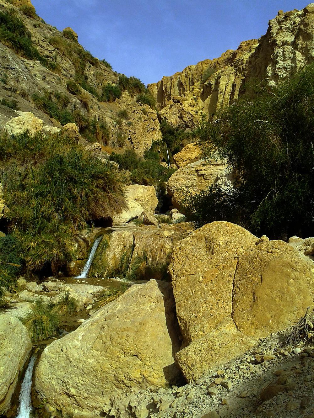 David Schlucht in Ein Gedi am Toten Meer, Israel