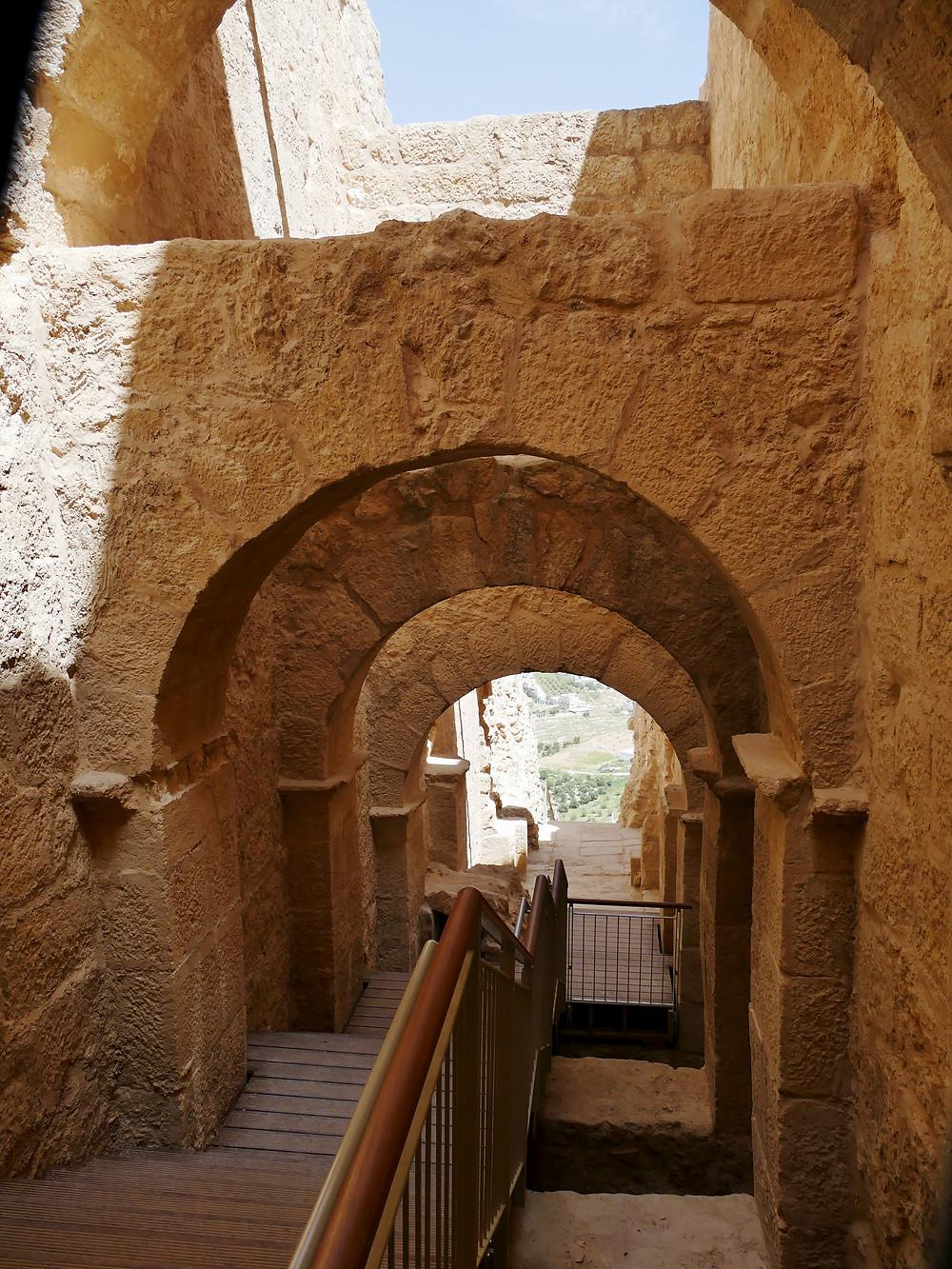 Herodion, Monumentale Treppe - oberer Teil