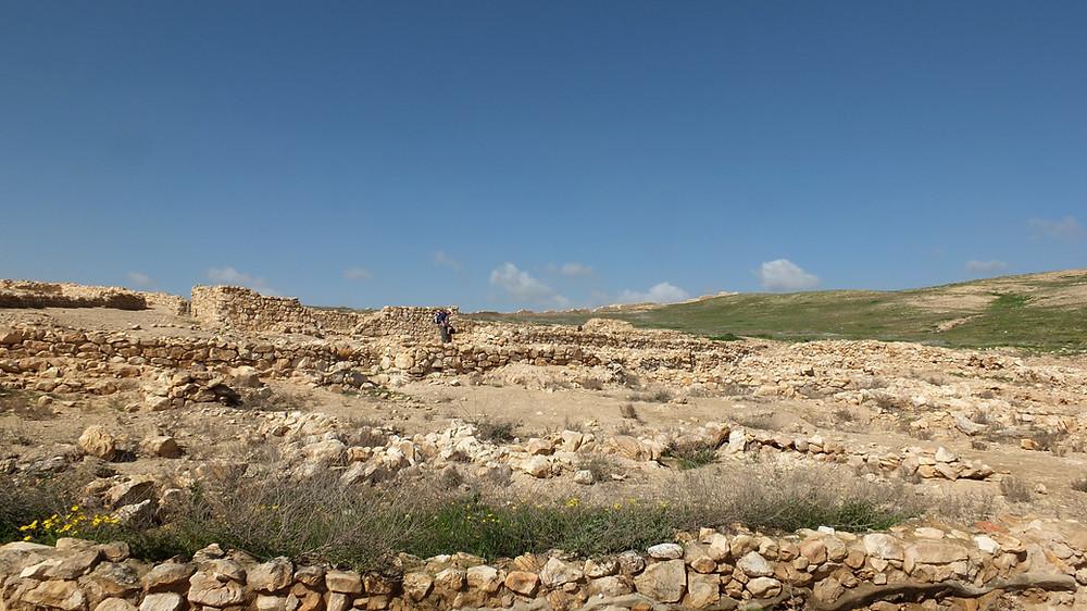 Kanaanitische Unterstadt in Tel Arad, Israel