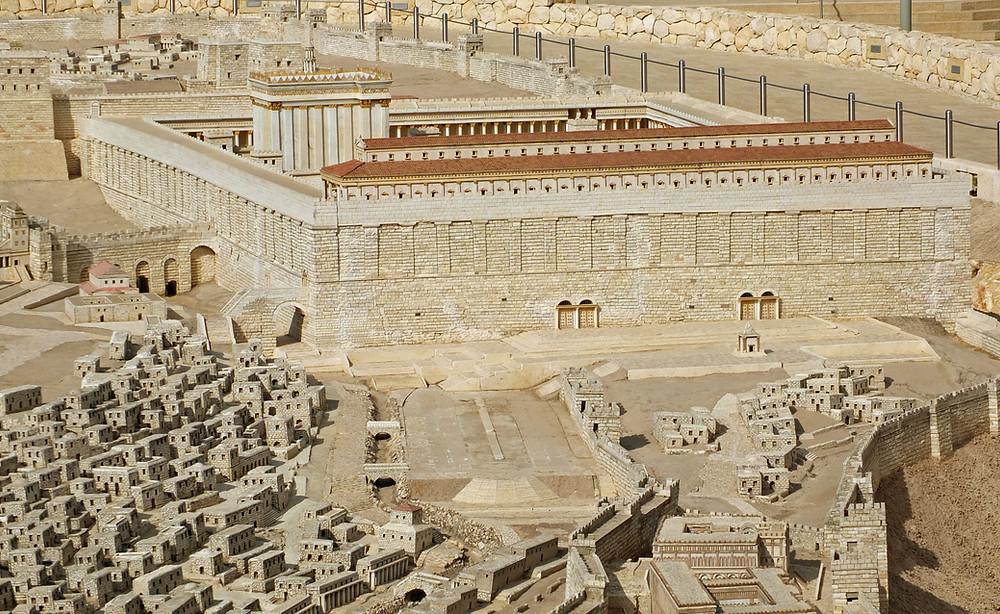 Tempelberg mit Westmauer (Klagemauer)