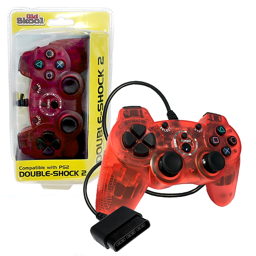 Double-Shock PS2 Controller - Red