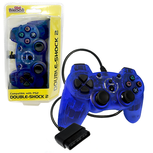 Double-Shock PS2 Controller - Blue