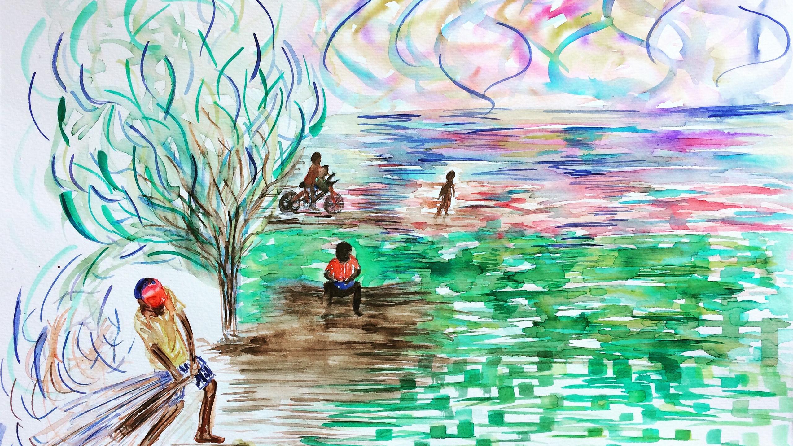 47 x 38 cms  Watercolor