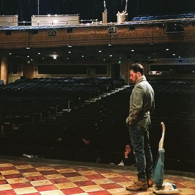 Jeremy on Once Stage