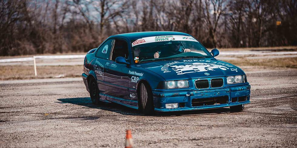 Drifting race by car