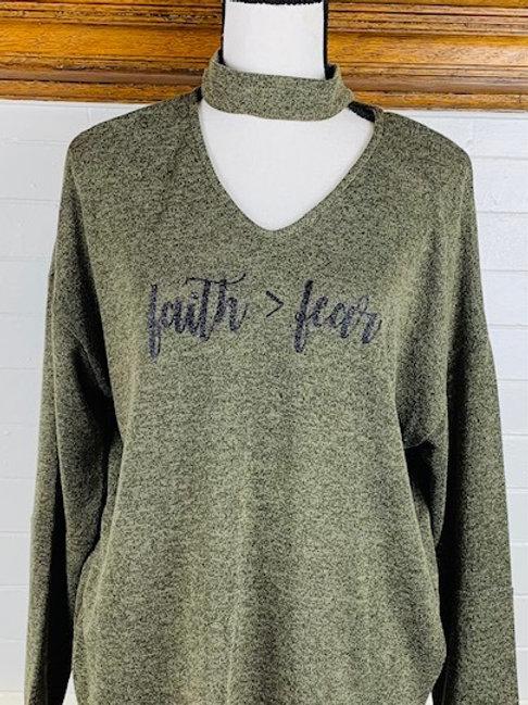 """""""Faith > Fear"""" Long Sleeve Shirt"""