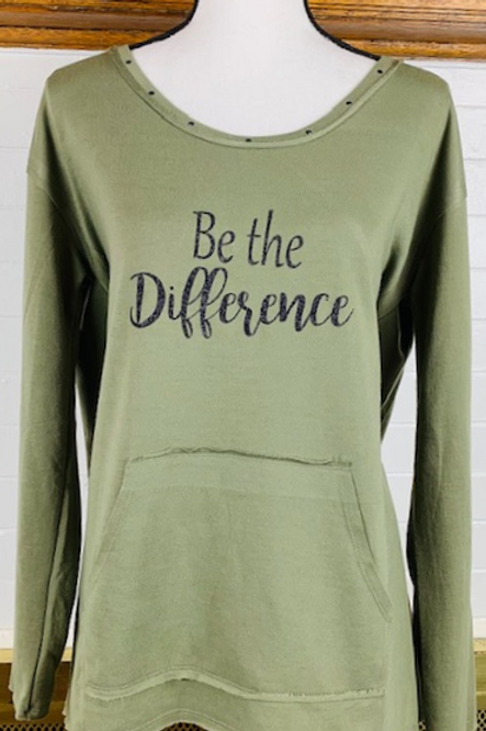 """""""Be the Difference"""" Long Sleeve Sweater"""