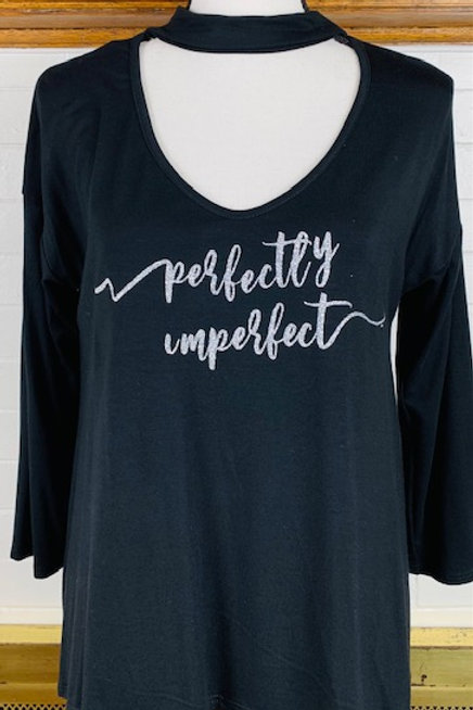 """Perfectly Imperfect"" Long Sleeve Shirt (No Rhinestones)"
