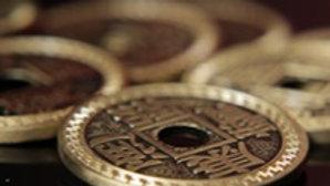 China-Münzen Set / Half Dollar Größe
